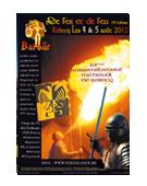 Réalisation de l'affiche pour l'événement Médiévales de Rebecq