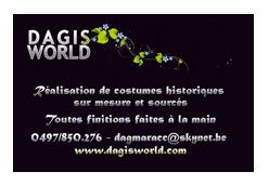 Réalisation de cartes de visite pour Dagi's World