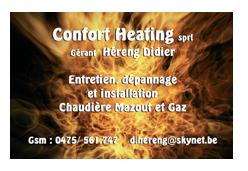 Réalisation de cartes de visite pour Confort Heating