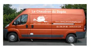 Réalisation de découpes autocollant pour le Chaudron de Dagda