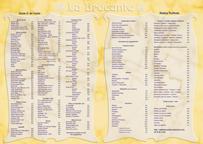 Réalisation d'un menu pour le café La Brocante